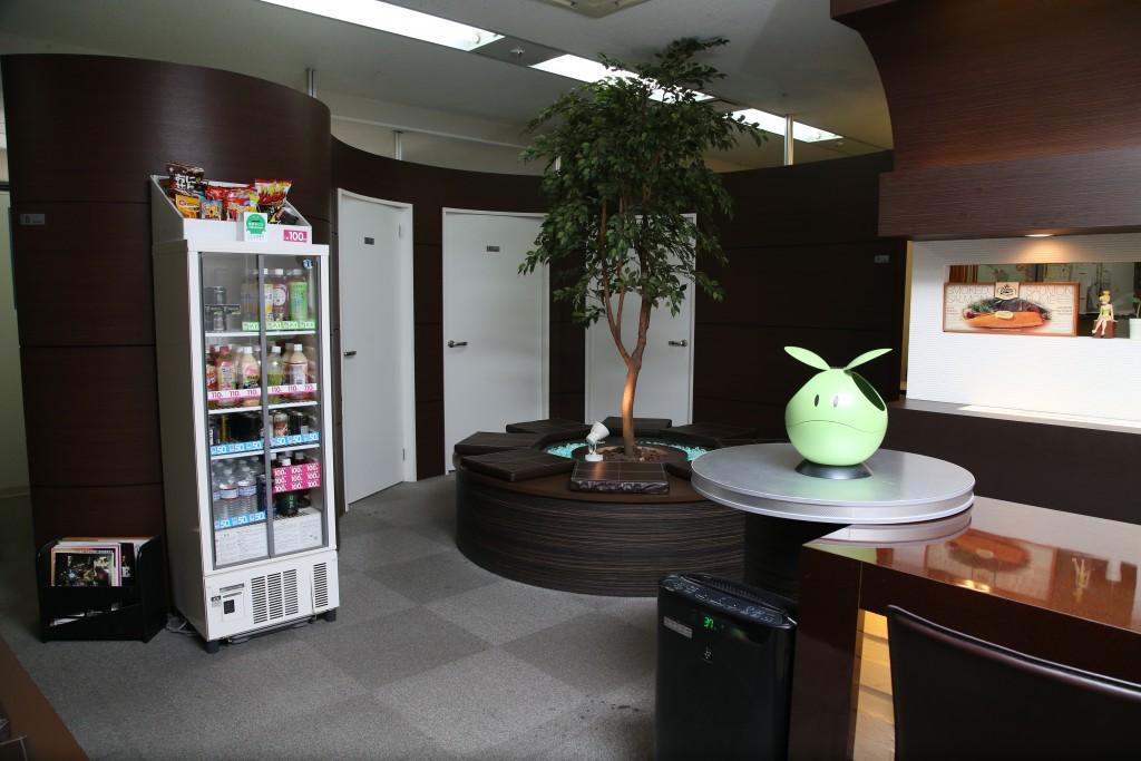 OEC心斎橋校の休憩スペース