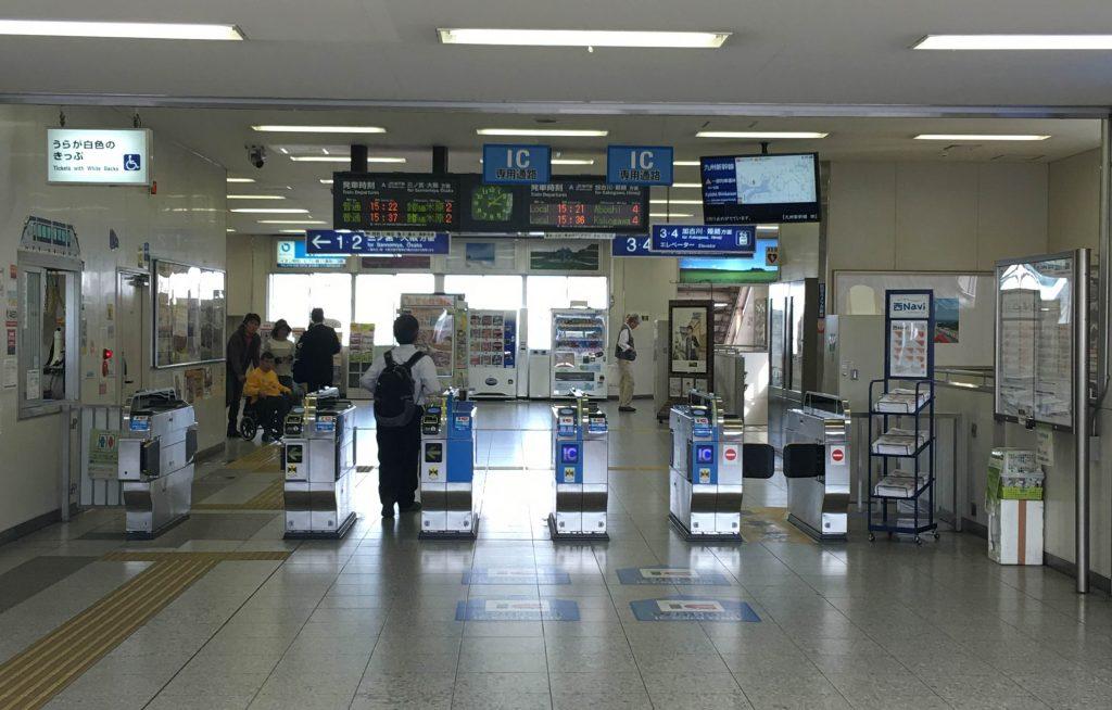 JR大久保駅の改札出口