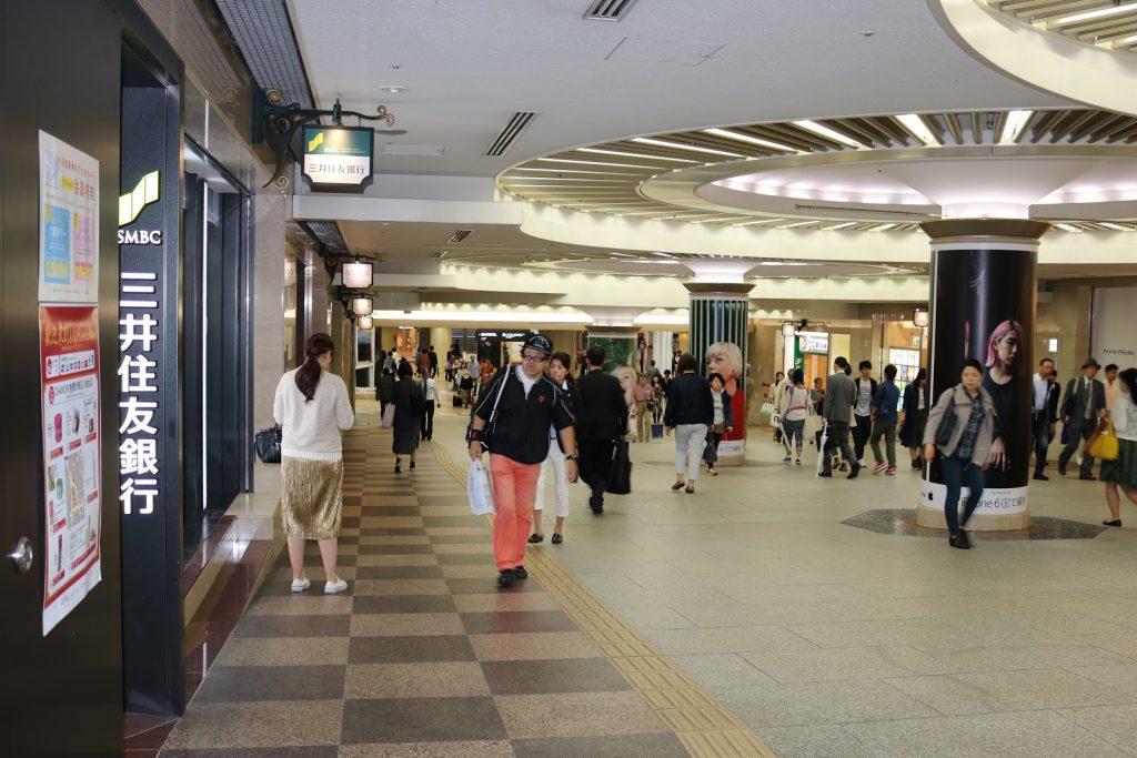 梅田地下の三井住友銀行ATM