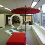 OEC英会話難波(なんば)校舎内の和風なリラックススペース